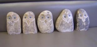 自然石フクロウ